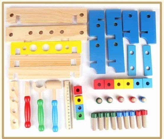 Banc de scule din lemn pentru copii 3