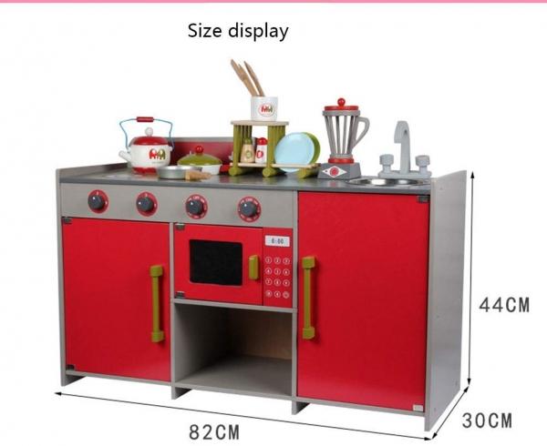 Bucatarie de lemn copii Dubla European Kitchen  cu accesorii 1