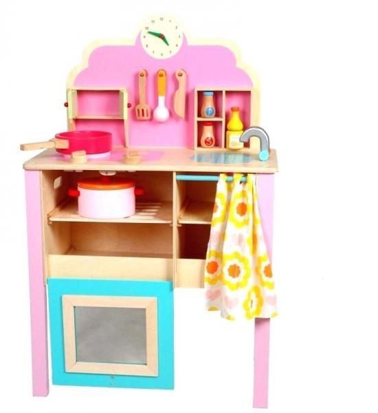 Bucatarie de jucarie de lemn Pink Kitchen 0