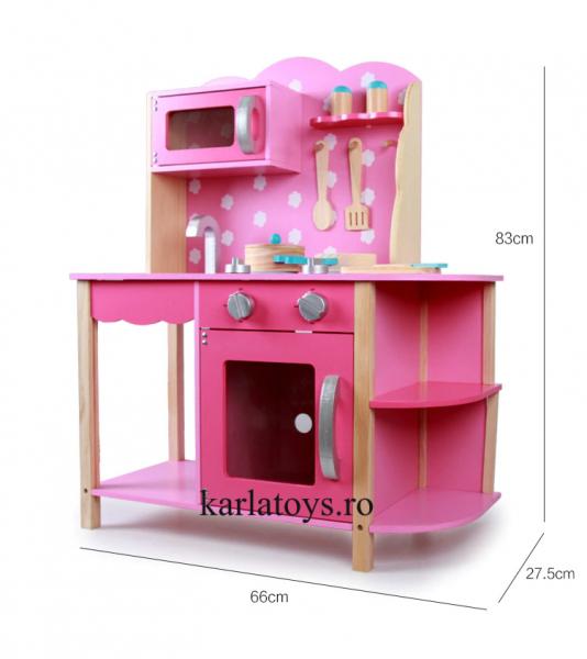 Bucatarie din Lemn Copii cu accesorii Pink 9