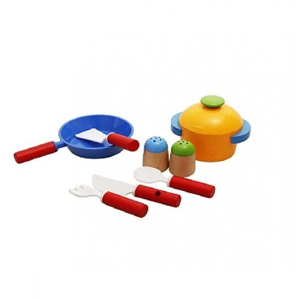 Bucatarie de jucarie din lemn pentru copii Colorata 3