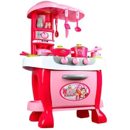Bucatarie electronica Smart Little Chef copii  31 piese Roz 1