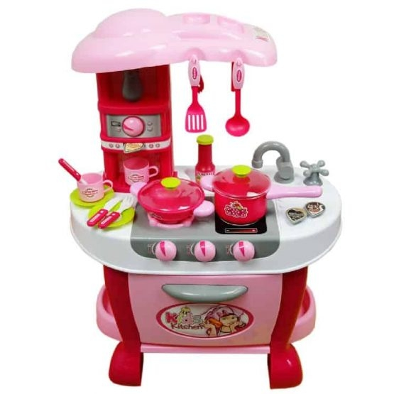 Bucatarie electronica Smart Little Chef copii  31 piese Roz 3
