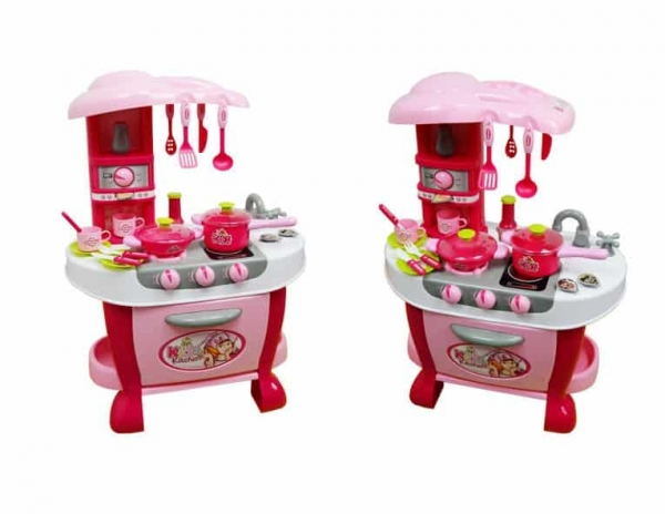Bucatarie electronica Smart Little Chef copii  31 piese Roz 5