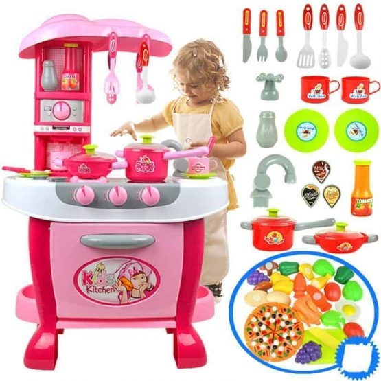 Bucatarie electronica Smart Little Chef copii  31 piese Roz 0