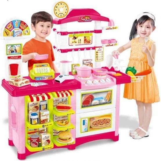 Fast Food bucatarie de jucarie - Bucatarie copii Mare cu accesorii 1