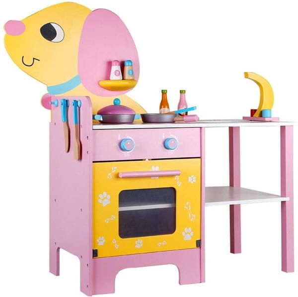 Bucatarie de lemn copii Catel cu accesorii 0