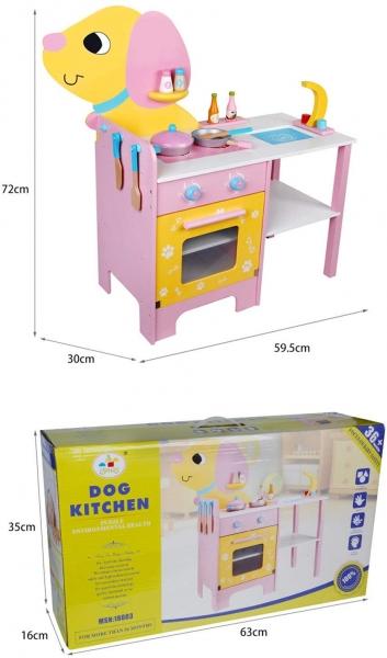 Bucatarie de lemn copii Catel cu accesorii 6