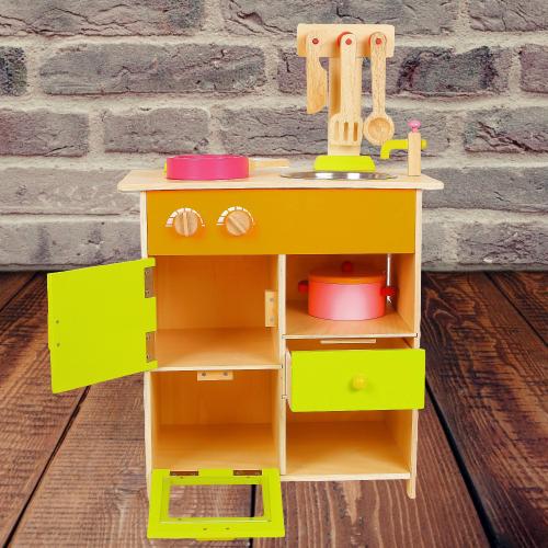 Bucatarie de lemn copii Clasica cu accesorii 11