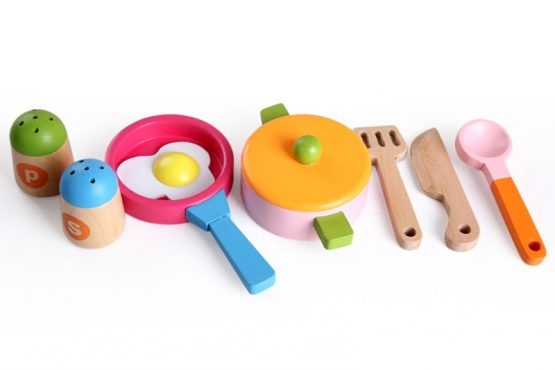 Bucatarie de jucarie din lemn pentru copii Colorata 5