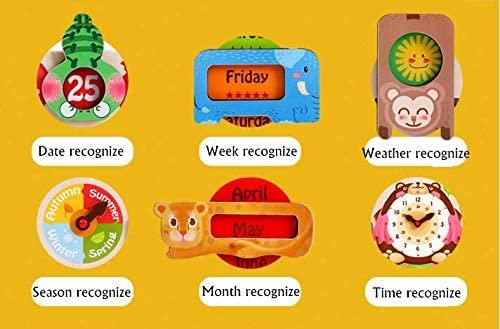 Calendar din Lemnn Ursulet Onshine - Joc Educational Mare Calendar Onshine 2