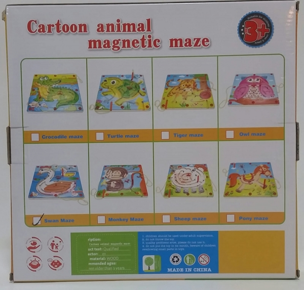 Labirint magnetic in forma de Animale -Joc din lemn magnetic  Animale [1]