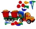 Camion mare cu accesorii pentru nisip -Camion cu accesorii nisip pentru copii 2