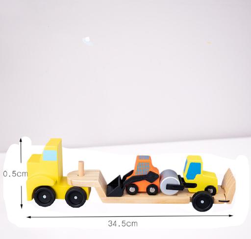 Jucarie din Lemn Camionul cu utilaje 1