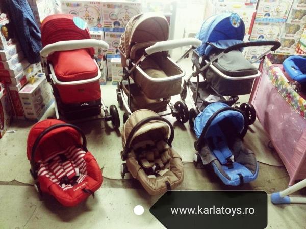 Carucior Baby Care 3 in 1 nou nascuti 5