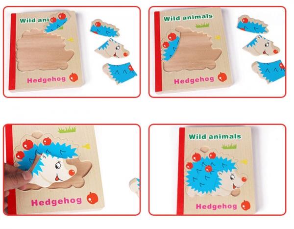 Carte puzzle pentru copii din lemn 5
