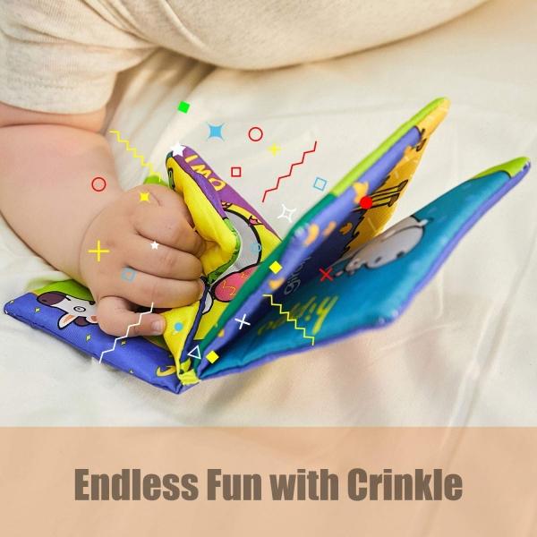Set 6 carti bebelusi senzoriale - Prima mea carte material textil Top Bright 2