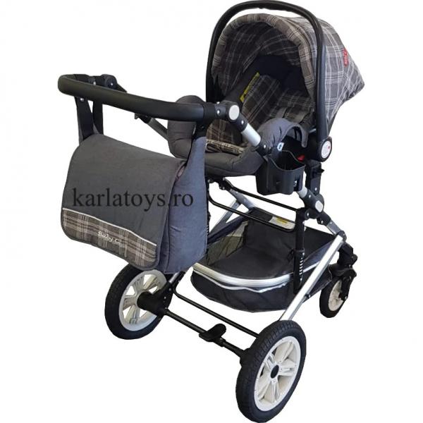 Carucior 3 in 1 transformabil Baby Care -Carucior copii 3 in 1 cu geanta 1
