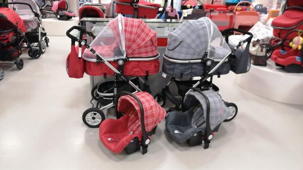 Carucior 3 in 1 transformabil Baby Care -Carucior copii 3 in 1 cu geanta 0