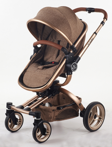 Carucior copii Transformabil 2 in 1 360' Baby Care Șasiu aluminiu 0