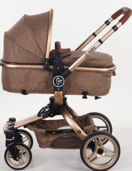Carucior copii Transformabil 2 in 1 360' Baby Care Șasiu aluminiu 1