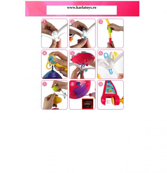 Carusel pentru copii cu avioane si elicoptere Dream world [6]
