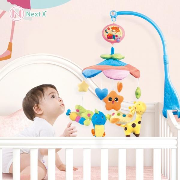 Carusel pentru copii musical mobile - jucarii din plus 1