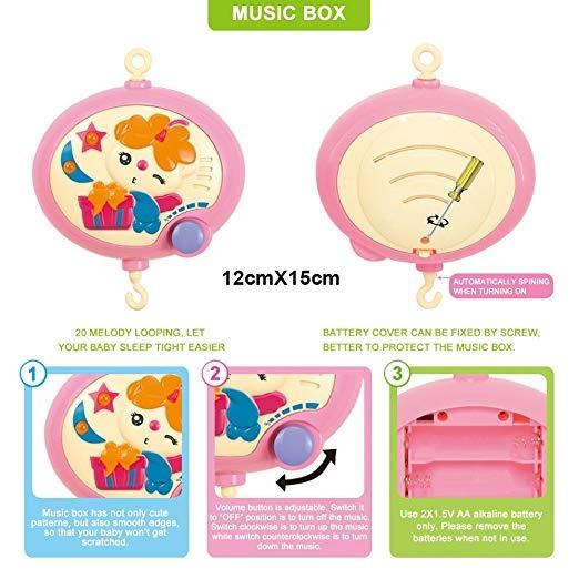 Carusel pentru copii musical mobile - jucarii din plus 4