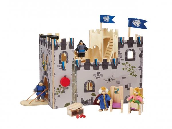 Castel din lemn copii Playtive Junior cu Cavalerii 0