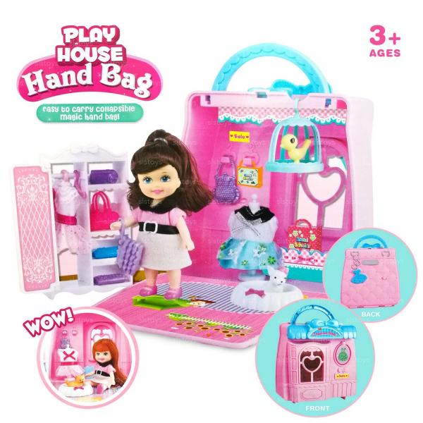 Casuta de papusi cu accesorii transformabilaHandbag Play House [0]
