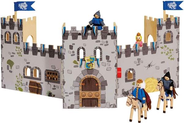 Castel din lemn copii Playtive Junior cu Cavalerii 3