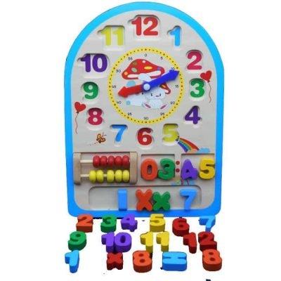 Ceas din lemn Multifunctional cu abac 0