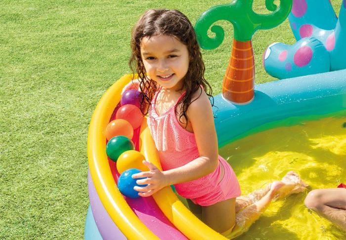 Centru de joaca gonflabil si piscina Intex  Dinoland [5]