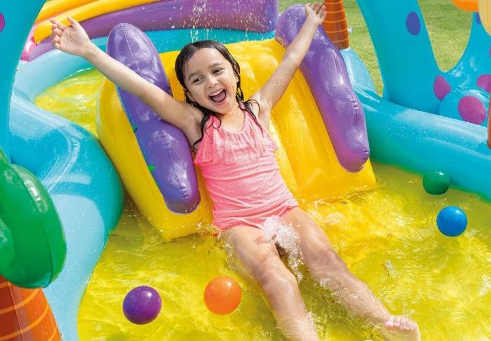 Centru de joaca gonflabil si piscina Intex  Dinoland [2]