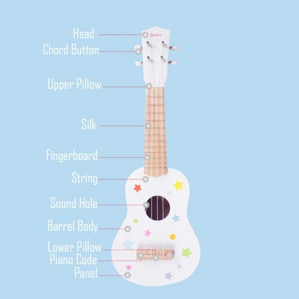 Chitara copii din lemn 5