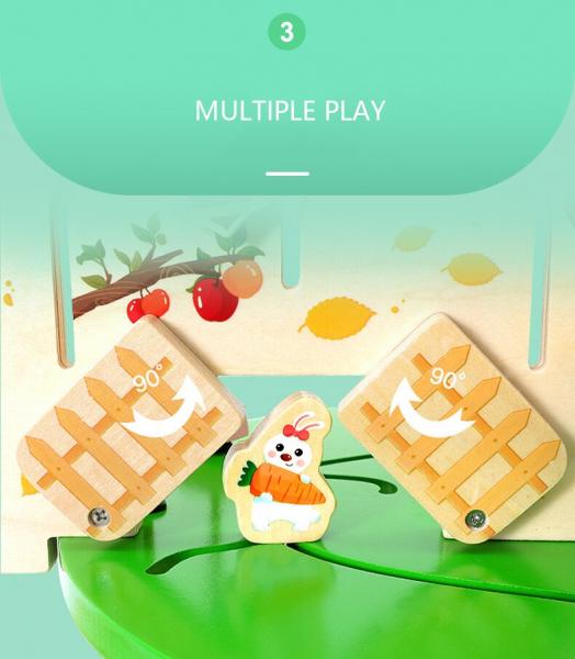 Joc de lemn Educatia Montessorii Pomul Intelepciunii 7