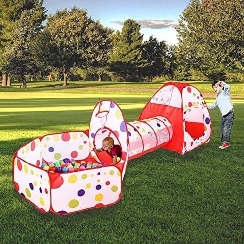 Cort de joaca cu tunel pentru copii 3 in 1 1