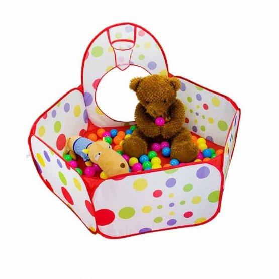 Cort de joaca cu tunel pentru copii 3 in 1 3