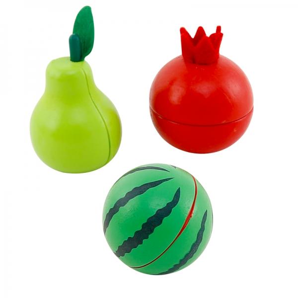 Cos din lemn cu fructe de feliat cu prindere magnet 3