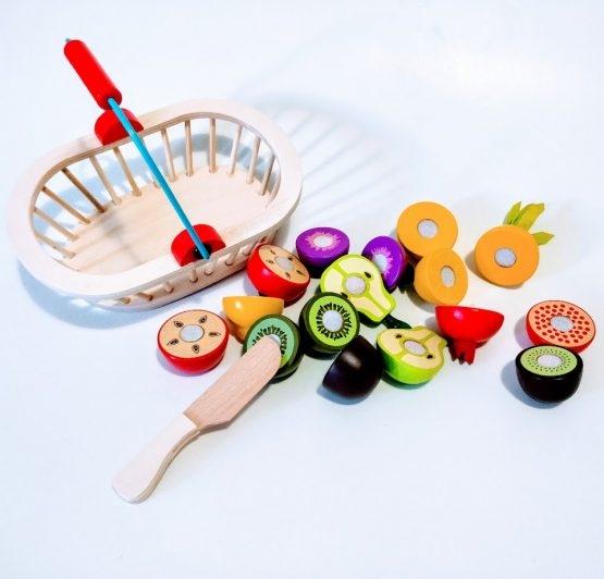 Cosuletul cu Fructe din lemn feliere 1