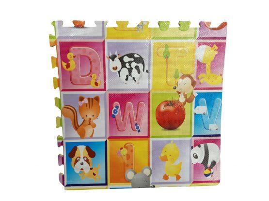 Covoras de joaca Puzzle mare Fructe si litere  - Litere si Animale 4