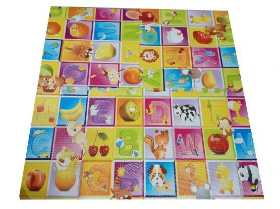 Covoras de joaca Puzzle mare Fructe si litere  - Litere si Animale 5