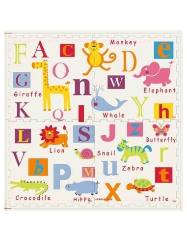 Covoras de joaca Puzzle mare Fructe si litere  - Litere si Animale 3