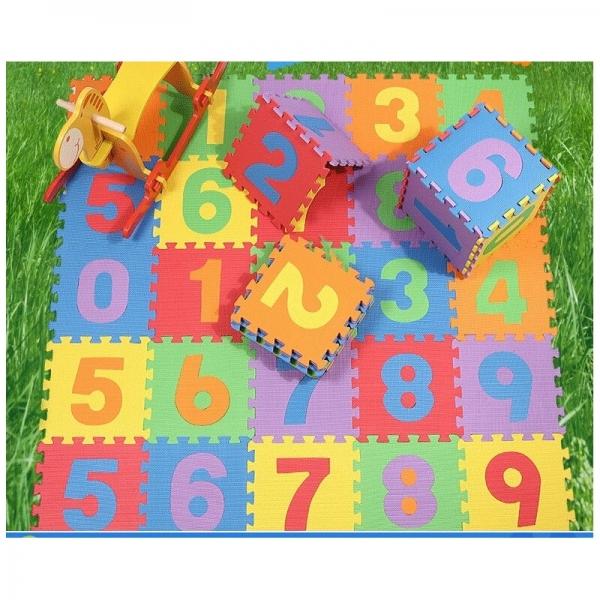 Covoras puzzle cu cifre pentru copii 1