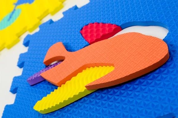 Set puzzel 10 piese cu vehicole - Covoras puzzle vehicole 0