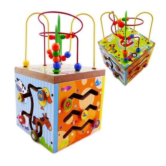 Cub educativ din lemn Ferma 5 in 1 [0]