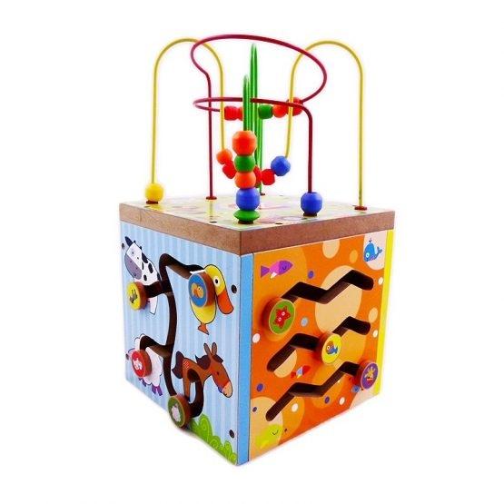 Cub educativ din lemn Ferma 5 in 1 [2]