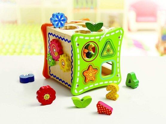 Cub educativ cu activitati 5 in 1 cu sunur pentru transport 4