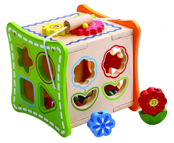 Cub educativ cu activitati 5 in 1 cu sunur pentru transport 3