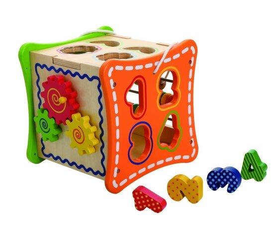 Cub educativ cu activitati 5 in 1 cu sunur pentru transport 2